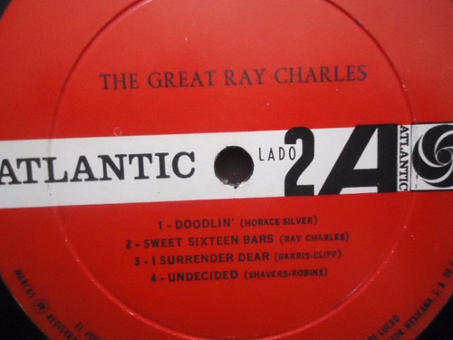 ray charles / plays jazz vinyl lp acetato