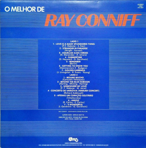 ray conniff lp 1983 o melhor de ray conniff 15480