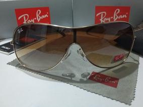 ed0821076b Ray Ban Máscara 3211 Dourado Óculos De Sol Feminino Leilão - Óculos ...