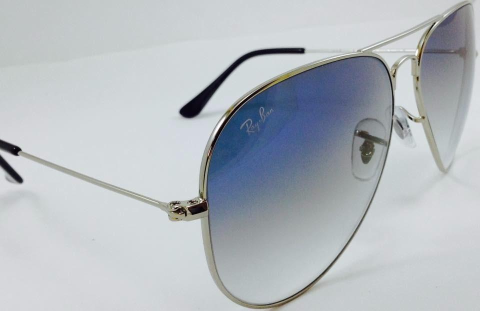 rayban aviador 3025 3026 prata com azul degradê original. Carregando zoom. daa8540a0a