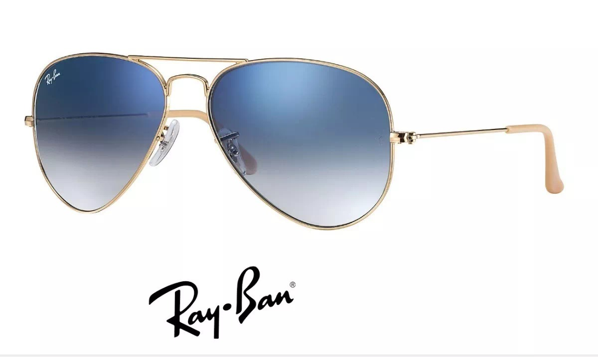 fbf22c7f08d01 rayban aviador gradiente degradê azul - rb3025 - original. Carregando zoom.