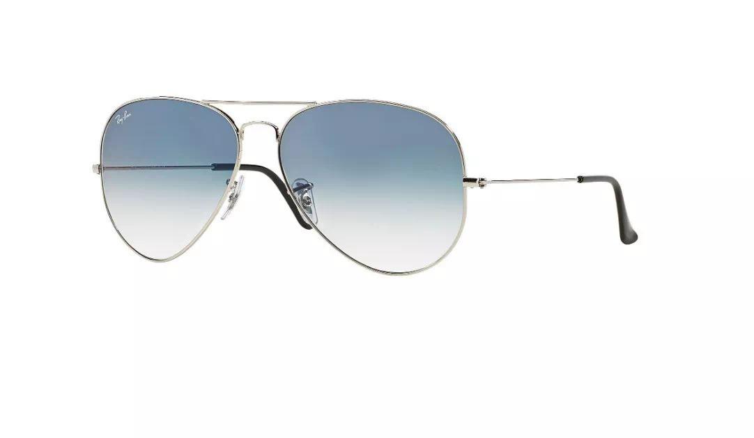 Rayban Aviador Prata, Preto,dourado Com Degradê Azul 30%off - R  264,49 em  Mercado Livre eb22268661