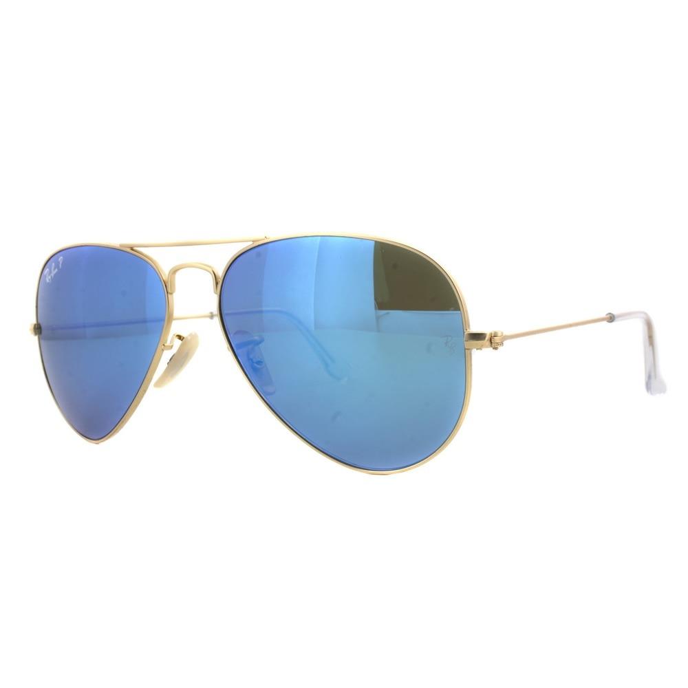 bb335326328b9 rayban aviator 3025 112 4l blue flash azul espejo polarizado. Cargando zoom.