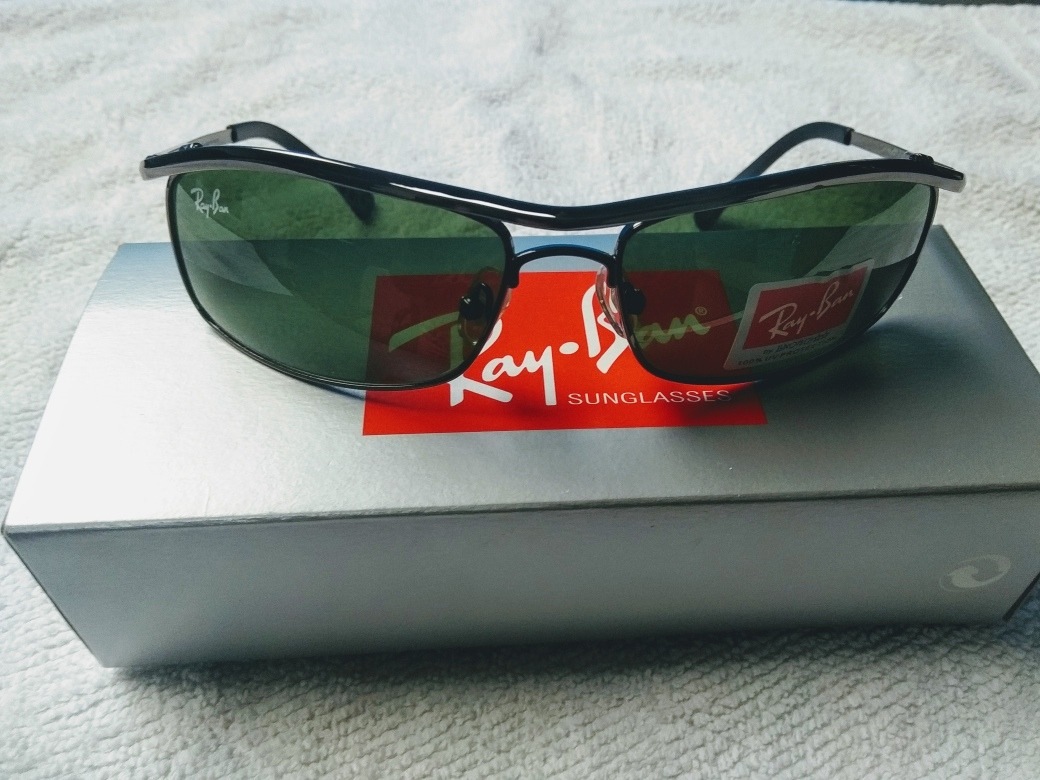 0512bf2fa9cb9 rayban demolidor 3339 armação preta lente verde +brinde. Carregando zoom.