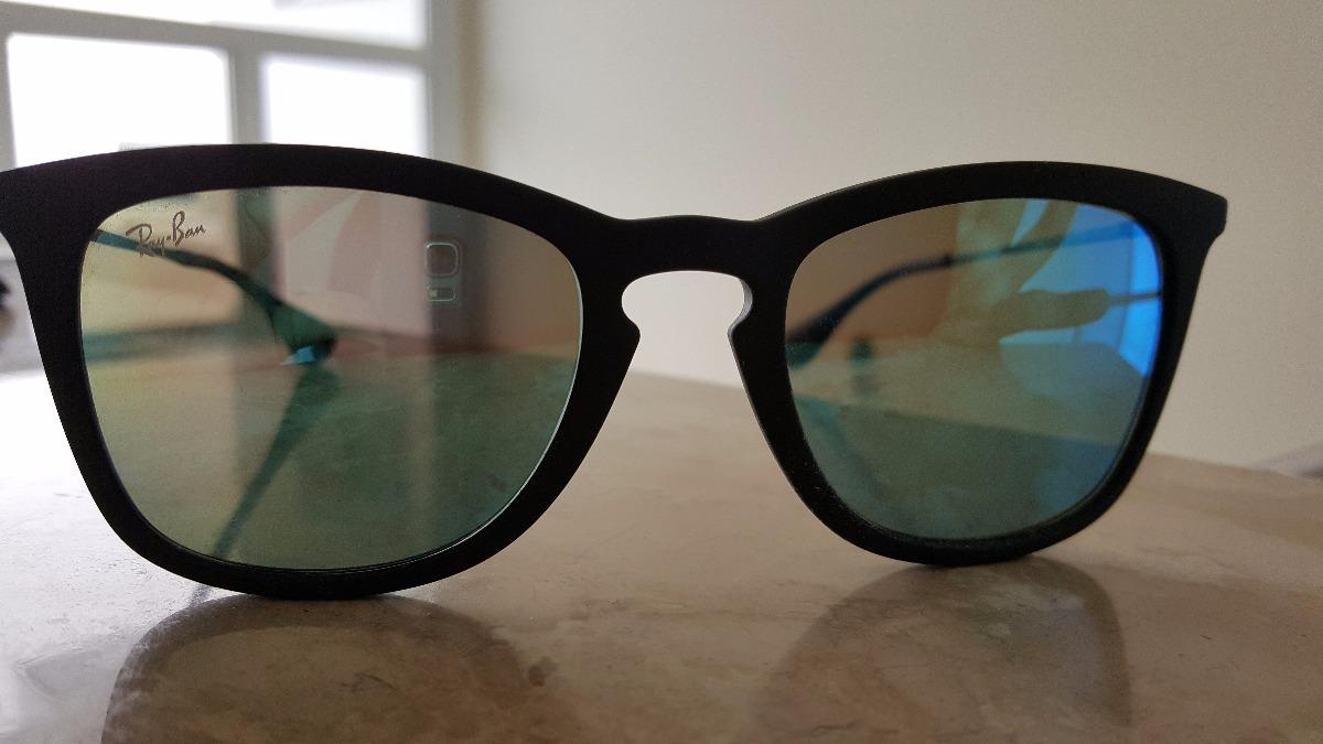 f3206bddc rayban erika espelhado azul fosco original preto marrom. Carregando zoom.
