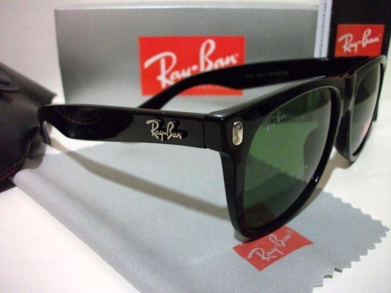 323cc61481e86 rayban rb2140 wayfarer preto lente verde cristal italiano. Carregando zoom.