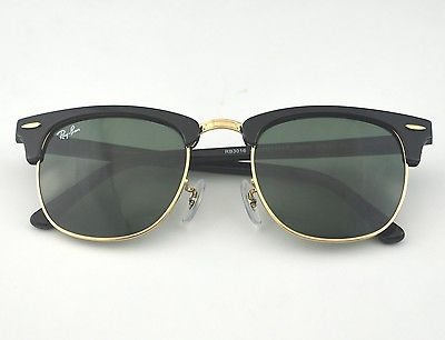47cf7acd95 Rayban Rb3016 Clubmaster Clásico W0365 Negro Marco   Verde ...