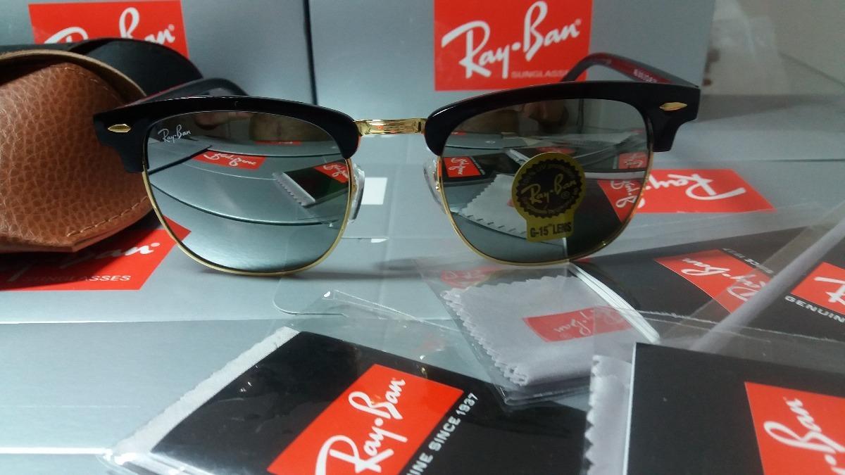aee29cabe89f2 rayban rb3016 clubmaster espelhado prata óculos tam 4,9cm g. Carregando  zoom.
