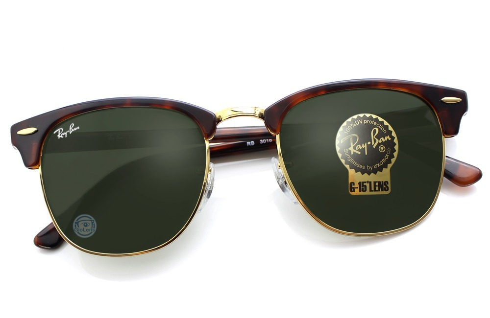 87c3548f87cc3 Rayban Rb3016 W0366 Clubmaster Tortoise Green Classic Msi ...