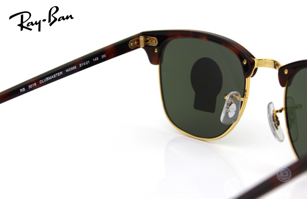 ba90d1647f05c Rayban Rb3016 W0366 Clubmaster Tortoise Green Classic Msi -   2