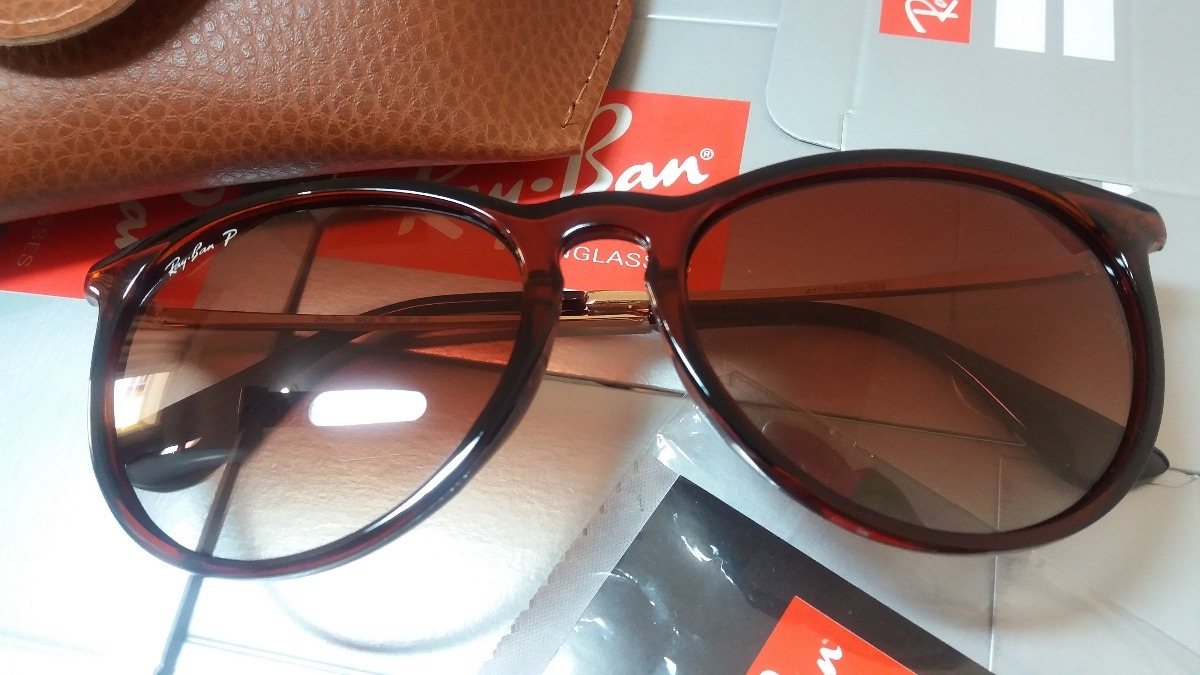 11da025c2726c rayban rb4171 erika marrom brilho oculos italiano tam 54 g. Carregando zoom.