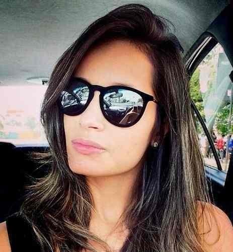 98fd80997 Rayban Rb4171 Erika Velvet Veludo Preto Espelhado Prata - R$ 57,00 ...