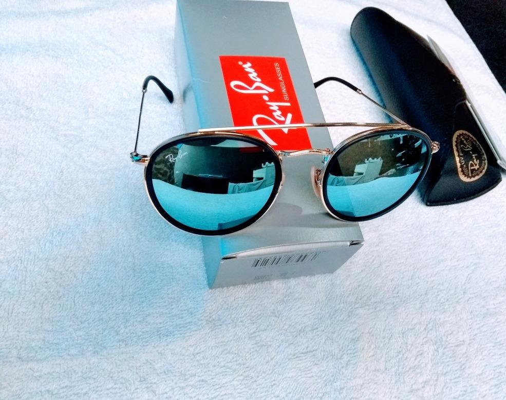 370a5cd93 Rayban Round Blazer Original Azul Espelhado+brinde - R$ 290,50 em ...