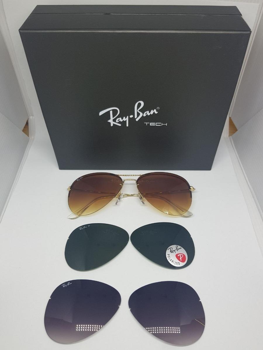 4beaf1076 rayban tech flip out rb3460 troca lentes original + brinde. Carregando zoom.