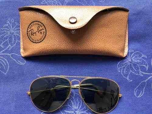 rayban top aviador vintage lentes verdes bausch & lomb