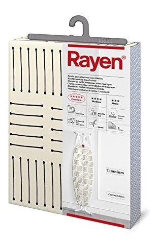rayen 630401 tabla para tabla de planchar color blanco y neg