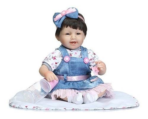 rayish reborn baby doll silicona suave 18 pulgadas 45cm magn