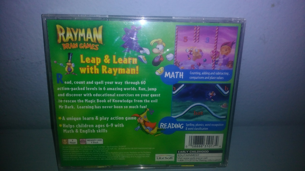 Rayman Brain Games Ps1 Completo  - $ 360 00