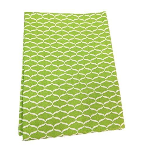Raymond Waites Tablecloth Oblong Lime Green Geometic Print 6