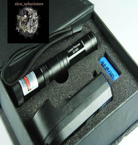 rayo laser apuntador recargable 100mw, profesional c/efectos
