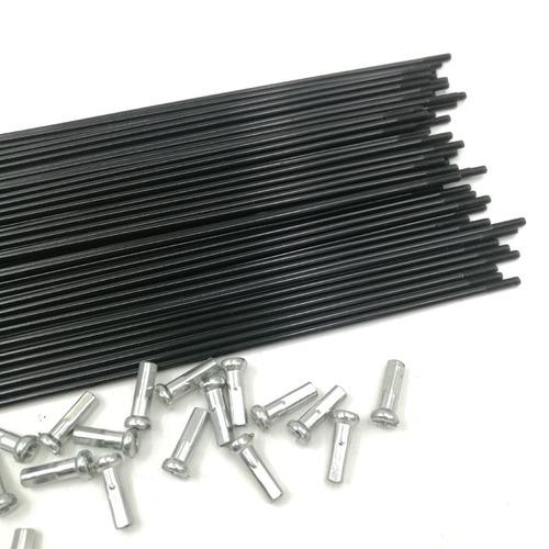 rayos negros 270mm con niples (72pzas)