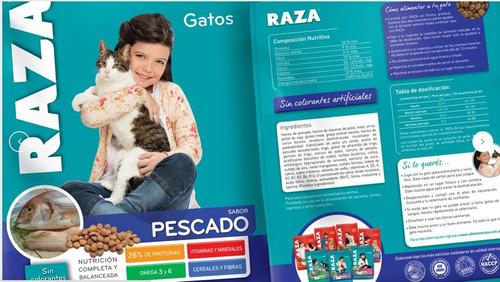 raza gato pescado 10kg + 1kg con pouch premium 85 grs