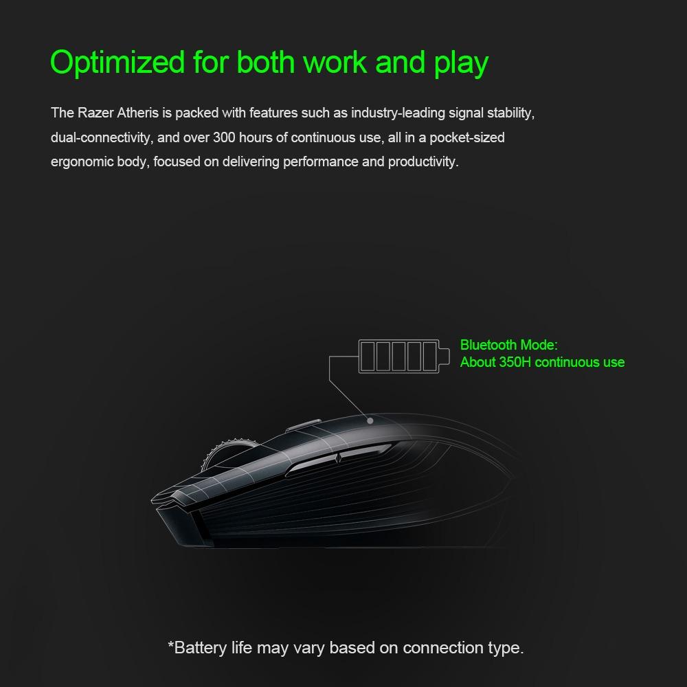 Razer Atheris Bluetooth Sin Hilos Gaming Ratón Ambidiestro