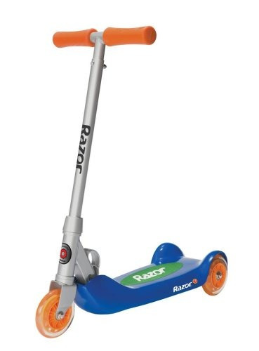 razor jr. plegable kiddie kick scooter (blue)