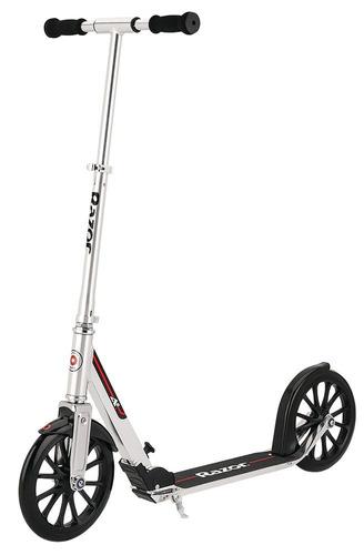 razor - scooter a6 plateado/rojo