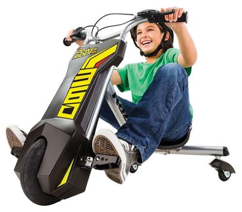 razor - triciclo eléctrico power rider 360 - negro