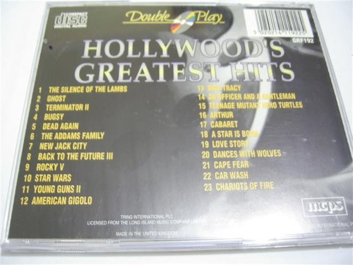 rb165 - cd hollywood's greatest hits