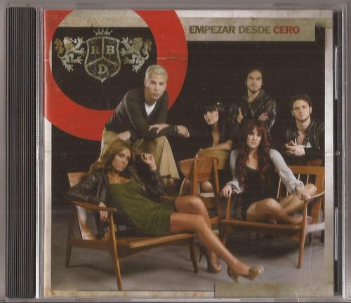rbd cd empezar desde cero cd original como nuevo