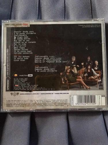rbd empezar desde cero cd+dvd - fan edition excelente estado