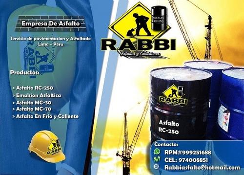 rc-250 asfalto liquido oferta en rabbi peru