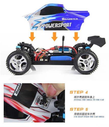 rc auto wltoys a959 1/18 4x4 +batería extra 50kmh
