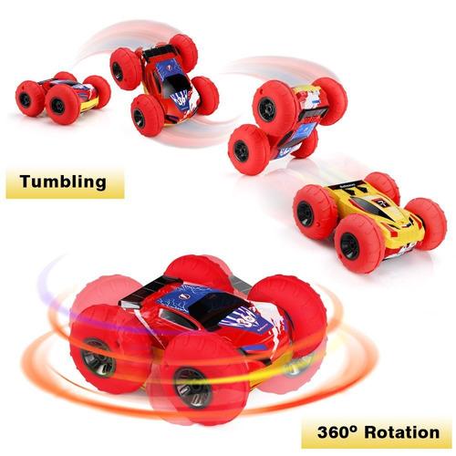 rc coches betheaces 4wd doble cara stunt coche control r
