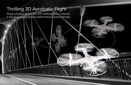 rc drone - rtf syma x5c - 1 explorers 2.4ghz 4ch-blanco