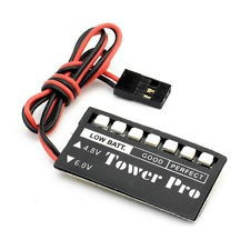 rc model 7 led battery voltage indicator