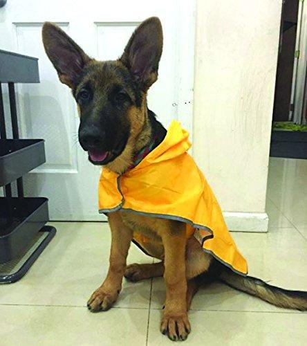 rc pet products poco voluminoso perro poncho de lluvia sol