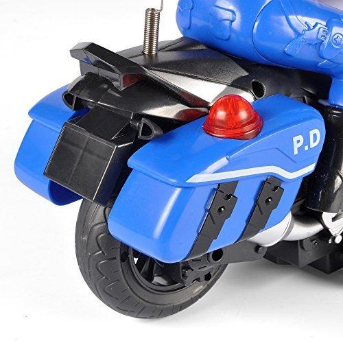 rc policía patrulla motocicleta bicicleta de motor de contr
