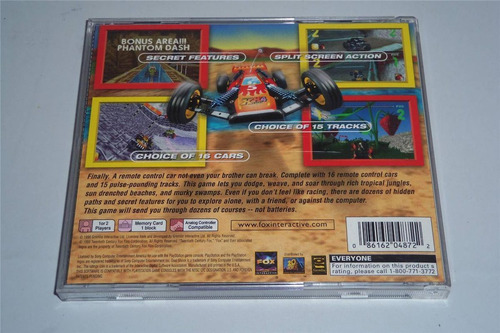 rc racer original de psx compatible con ps1 ps2 y ps3