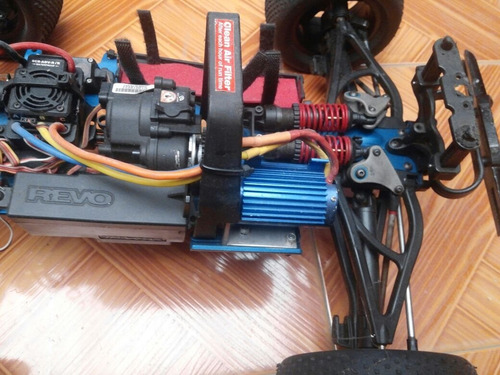 rc traxxas revo electrica motor brushless hobbywing ezrun