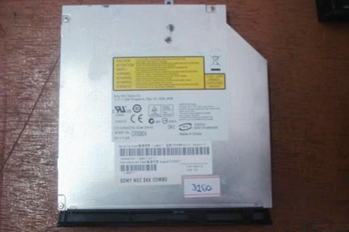 rc3160- combo leitor de dvd + gravador de cd sony p/notebook