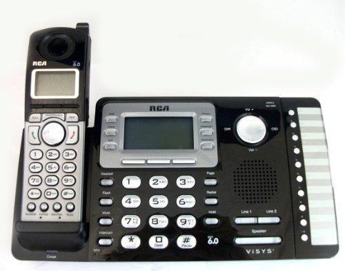 rca 25212 teléfono inalámbrico expansible de 2 líneas con id
