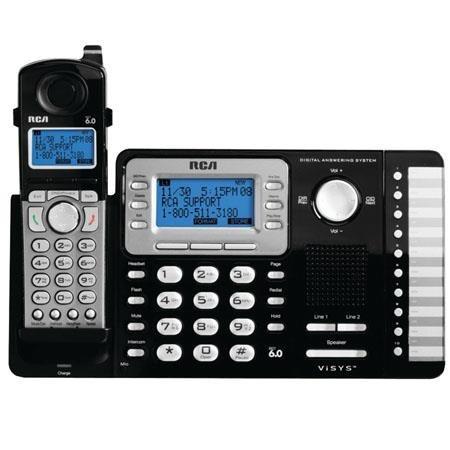 rca-25252 telefono fijo dect_6.0 1  auricular de 2 lineas