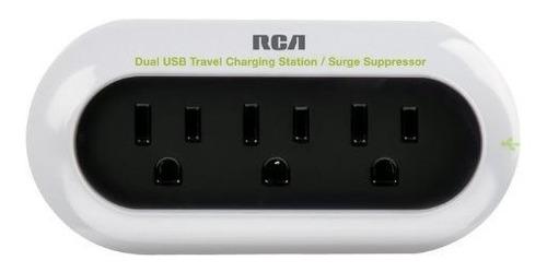 rca estacion de carga portatil para telefono celular 2 blanc