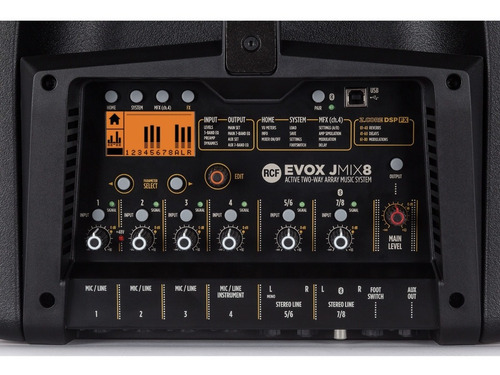 rcf evox j8 mix - lançamento - mesa digital rcf inclusa.