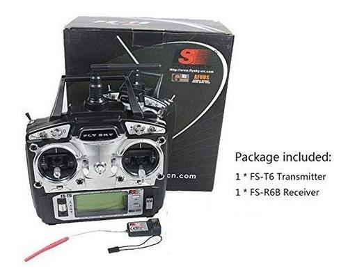 rcmall flysky fs-t6 alta precisión 2.4g 6 canales 6ch radio