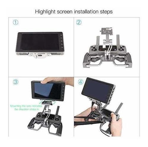 rcstyle mavic 2 tablet mount aluminio soporte de soporte de