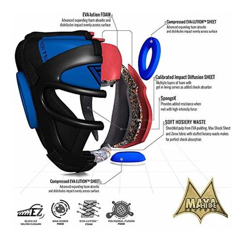 rdx maya hide leather boxing mma protector